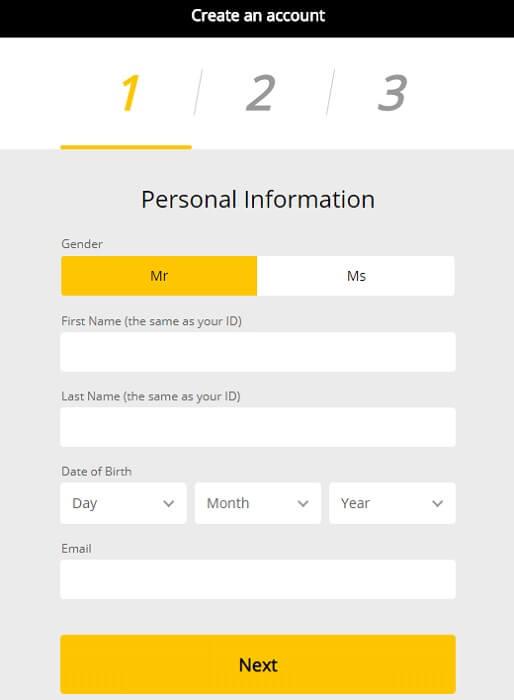 10cric Registration Form